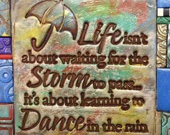 Dance in the Rain Polymer Clay Tile Mini-Mosiac MM40012-15