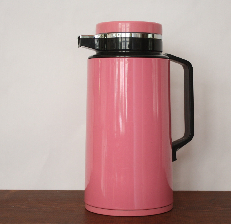 vintage thermique pink thermal carafe for tea coffee hot. Black Bedroom Furniture Sets. Home Design Ideas