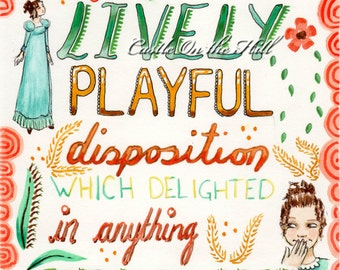 Elizabeth Bennet quote - Original Painting