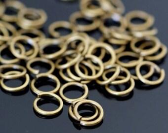Sale 200pcs Antique Brass Jumprings 4mm