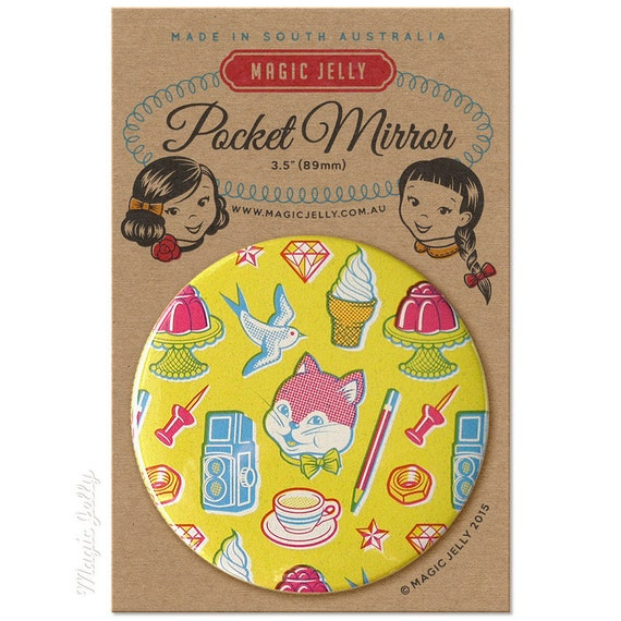 Pocket Mirror 3.5 inch - Stuff No. 1