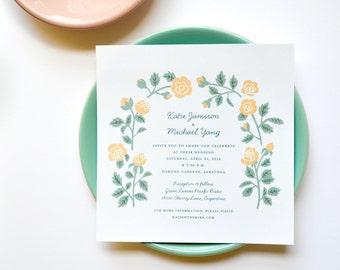 Rose Garden Wedding Invitations 50 - Cotton Paper