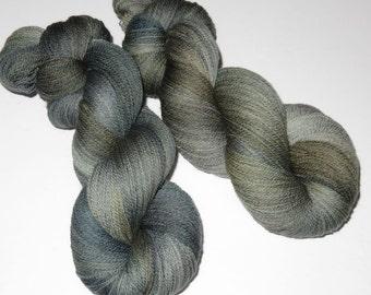 Handpainted Superwash Merino Lace Weight -- Wraith (100g/875yds)