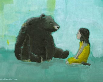 Curiosity - Original acrylic painting