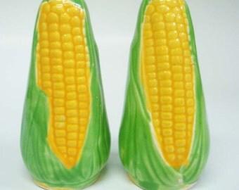Corn Salt & Pepper Shakers Cob Japan