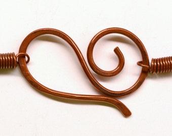 Handmade Copper Clasp Sets - 2 sets