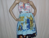 Star Wars OOAK Dress Upcycled All 3 Movies Dress Jedi Strikes Empire Comic Con Geeks Vintage Fabric Adult  L XL Plus Size Maternity Dress