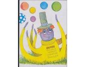 Happy Octopus Childrens Vintage Illustration Notebook
