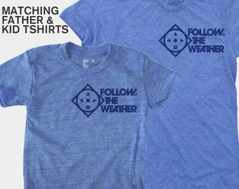 SALE! Boys Clothing, Father Son Matching Shirts, Storm Chasers, New Dad, Father Son Matching, Dad Baby Matching Shirts, Gift for Dad