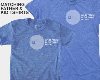 SALE! Matching Father Daughter Shirt, Father Son Matching, Dad Baby Matching Shirts, Typography Shirt, Father Child Matching