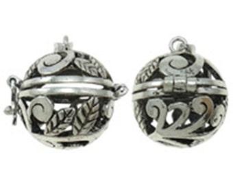 2PC fancy antique silver metal prayer pendant-9911