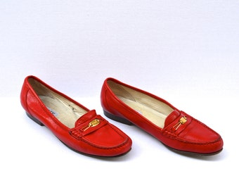 lipstick red loafer shoes 9