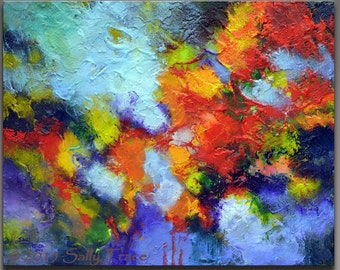Abstract Painting, Acrylic Painting, Textured Impasto Painting, Modern Painting