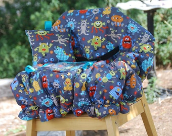 Shopping Cart Covers - Infant Shopping Cart Cover for  Baby Boy or Girl -   Monsters  Mash