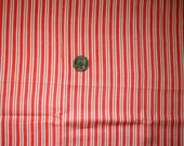 Vintage Feedsack Red and White Stripe