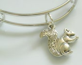 Adjustable Expandable Squirrel Charm Bracelet