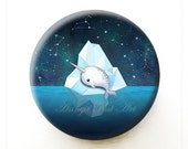 Baby Narwhal Party Favor - Collectible Art Mirror