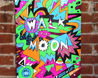 Walk The Moon - Official Gigposter - Boston, MA