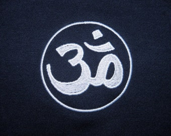 Embroidered AUM T-Shirt  -Made to Order Tshirt - MTO - Peace, Calm, Serenity T