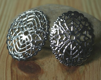Silver plated oval dangle/wrap (item ID SPFL2)