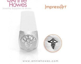 Impressart Metal Stamp  - Medic Caduceus Shape