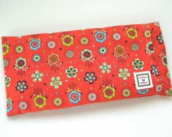Microwavable heating pad, Removable Cover, hot cold pack, Aromatherapy and heat therapy, flower fabric