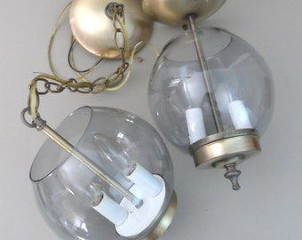 Mid Century Modern Duo Ceiling and Swag Light Buy One or Both
