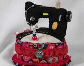 Wool Felt Sewing Machine Pincushion: Singer Featherweight model 221