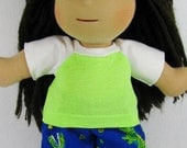 14, 15 inch doll clothing, waldorf outfit, Waldorf doll clothing, boy doll clothes, alligator pants