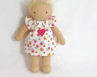 7 inch, 8 inch, 9 inch Waldorf doll dress, toy clothing, tiny doll dress