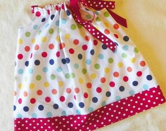 Rainbow Dot Pillowcase Dress
