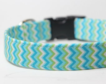 Chevron dog collar, Beachy Chevy Collar