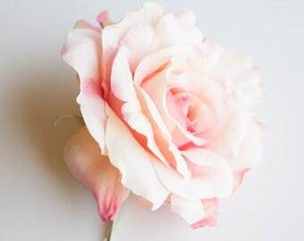 Blooming Sophia Rose in Pink Shades - Artificial Flower, Silk Flower Heads - ITEM 085