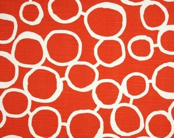 PRICE REDUCED - Ready to ship Freehand tangelo orange white curtains 25 wide 84 long