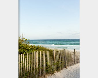 Seaside: fine art photograph print of beach dunes and ocean in Seaside, Florida (30A seascape beach house wall art)