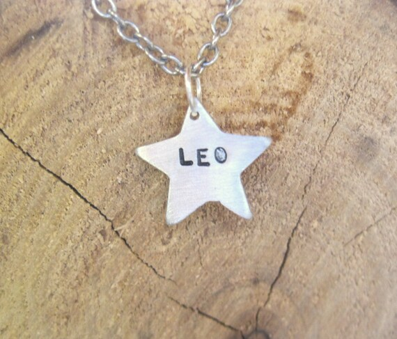 Zodiac Necklace-Leo-Star Sign Star Astrology Necklace-Vegan Necklace-Vegan Jewelry-Eco Friendly-Horoscope-Recycled Metals