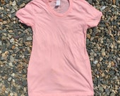 Perfectly soft and stylish discobelly brand maternity shirt in cute Peach Pink (Made in USA)
