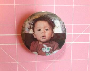 Custom photo picture photograph pin pinback button