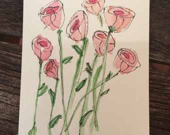 FREE SHIPPING Hello Spring Artist Trading Card