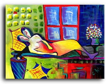 Valentine Gallery Canvas and Fine Art Prints The Lovers Couples People Colorful Figurative Art Gallery Elena