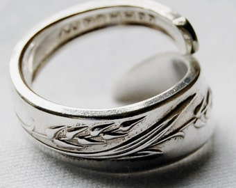 Silver Spoon Ring, bring in the harvest, name your size