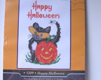 Halloween Cross Stitch Kit Happy Halloween by Candamar Designs