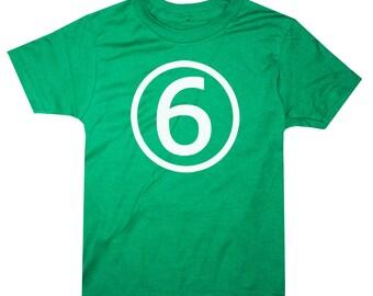 Kids CIRCLE Sixth Birthday T-shirt - Green