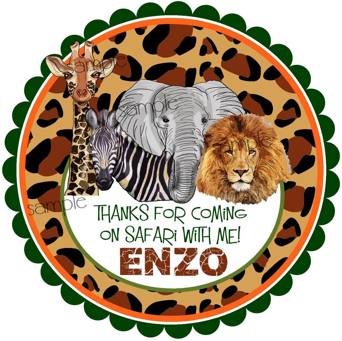 Leopard Print Party Decorations Safari Favor Tags Etsy