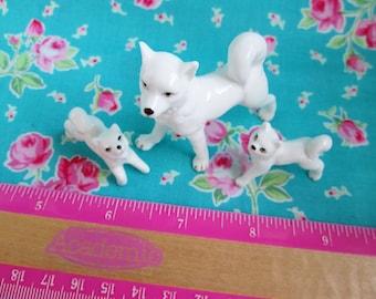 Blythe...Vintage DollHouse Pet Dogs..Ceramic..Perfect!!!