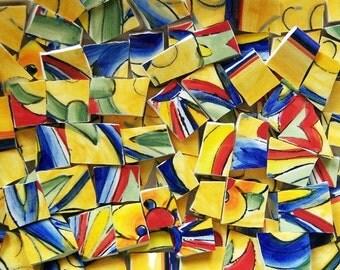Mosaic Tiles--Tuscan Talavera--65 Tiles