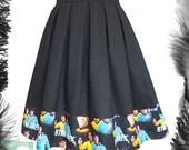 Star Trek Spock Kirk Skater Skirt, Any Size, geek, trekkie