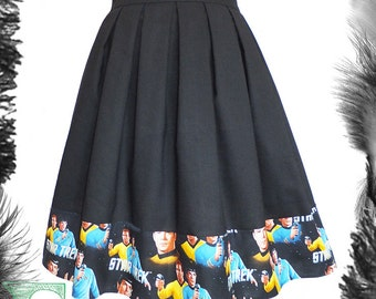 Star Trek Spock Kirk Skater Skirt, Any Size, geek, trekkie