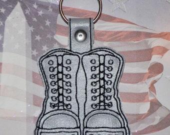 Combat Boot Vinyl Keychain