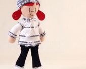 Little People Doll - Handmade Cloth Doll - Girl